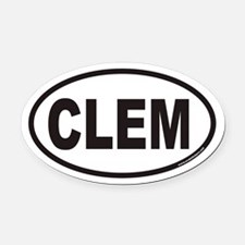 Clemson CLEM Euro Oval Car Magnet