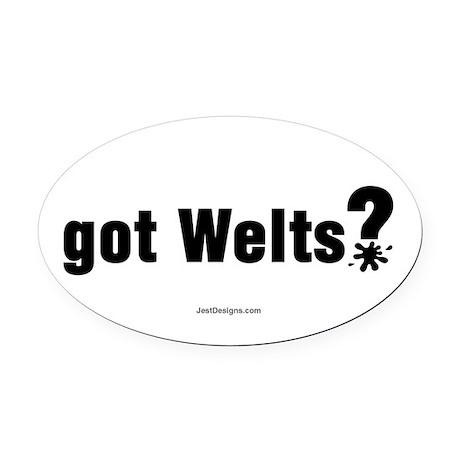 Got Paintball Welts Oval Car Magnet