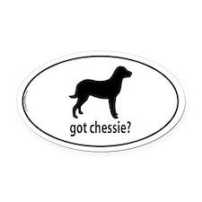 Got Chessie? Oval Car Magnet