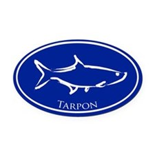 Blue Tarpon Oval Car Magnet