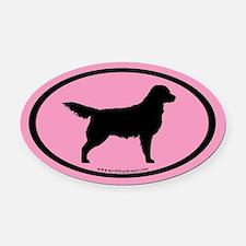 Pink Golden Retriever Oval #4 Oval Car Magnet