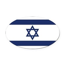 Israel Oval Car Magnet