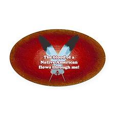 Native Blood Oval Car Magnet