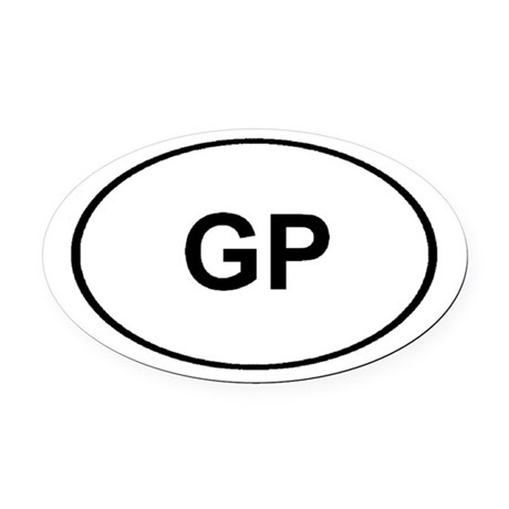 GP Oval Car Magnet