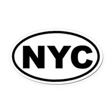NYC New York City Euro Oval Car Magnet