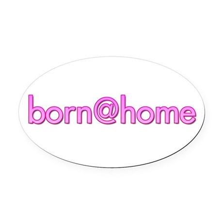 Oval Car Magnet/born@home
