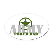 Proud Army Dad Oval Car Magnet