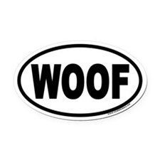 WOOF Euro Oval Car Magnet for Dog Lovers