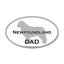 Newfoundland DAD Oval Car Magnet