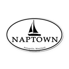 Naptown Oval Car Magnet