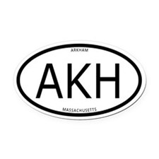 Arkham Oval Car Magnet (With Text)