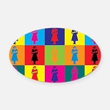 Midwifery Pop Art Oval Car Magnet