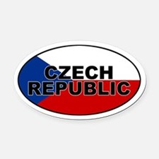 Czech Republic Oval Car Magnet