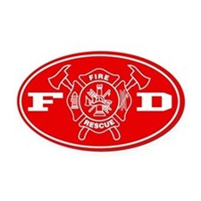 Fire Department - Oval Car Magnet