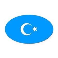 Uyghur Oval Car Magnet