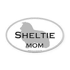 Sheltie MOM Oval Car Magnet