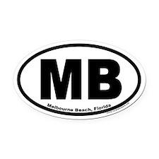 "Melbourne Beach, Florida ""MB"" Oval Car Magnet"