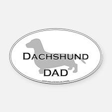 Dachshund DAD Oval Car Magnet