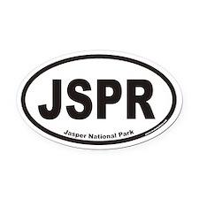 JSPR Jasper National Park Euro Oval Car Magnet