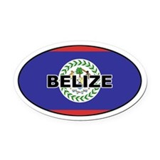 Belize Flag Oval Car Magnet