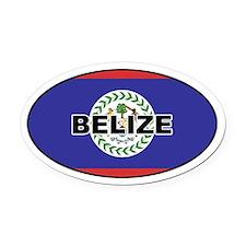 Belize Flag Oval Car Magnet
