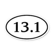 13.1 Half Marathon Oval Car Magnet (Oval)