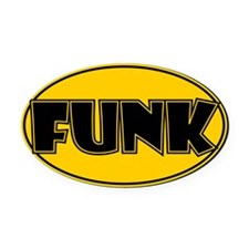 Oval Funk Oval Car Magnet