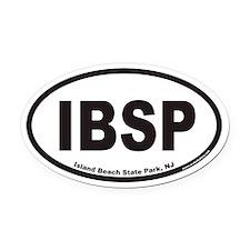IBSP Island Beach State Park Euro Oval Car Magnet