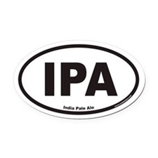 IPA India Pale Ale Oval Car Magnet