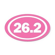 26.2 Pink Oval True Oval Car Magnet