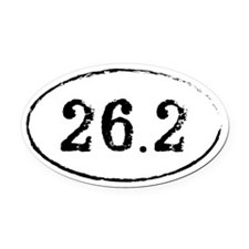 26.2 Marathon Runner Oval Oval Car Magnet