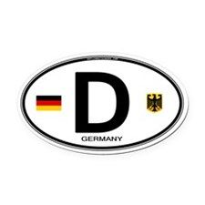 Germany Country Code Oval Oval Car Magnet