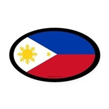 Filipino Flag Oval Car Magnet