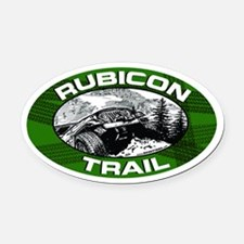 Rubicon Trail Green Oval Oval Car Magnet