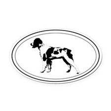 Brittany Silhouette Oval Car Magnet