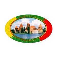 Lietuva - Trakai Oval Car Magnet