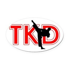 TaeKwonDo Oval Car Magnet