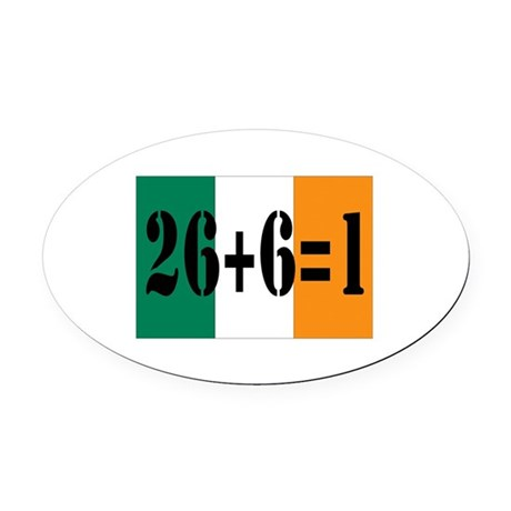 Irish pride Oval Car Magnet
