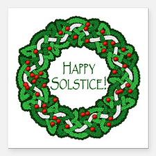 "Celtic Solstice Wreath Square Car Magnet 3"" x 3"""