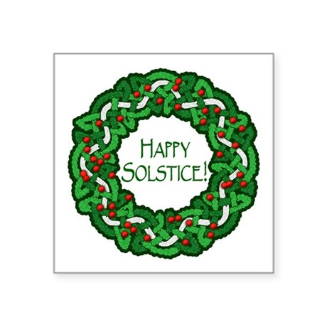 "Celtic Solstice Wreath Square Sticker 3"" x 3"""