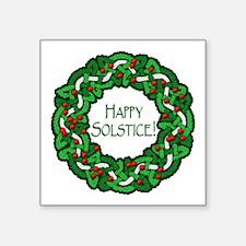 "Celtic Solstice Wreath Square Sticker 3"" x 3"""