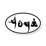 Yoga Oval Car Magnets
