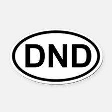 DND Oval Car Magnet