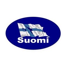 Suomi Flag Oval Car Magnet