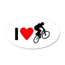 I love BMX Oval Car Magnet