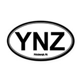 Yinz Oval Car Magnets