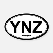 YNZ Oval Car Magnet - White