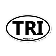 Triathlon Oval Car Magnet