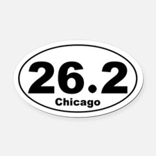 Funny Twin cities marathon runner Oval Car Magnet