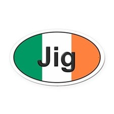 Jig Oval - Oval Car Magnet